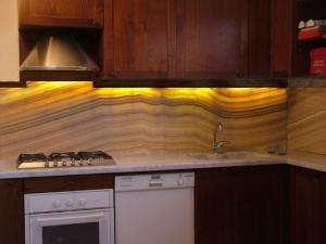 Translucent Onyx Backsplash